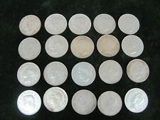 Mixed Roll of 20 George VI Canadian 50 Cent Coins