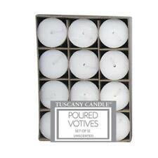 White Unscented Tapered Votive Candles 12 Pack