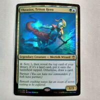MTG Thrasios, Triton Hero FOIL Commander 2016 NM Magic the Gathering CCG TCG