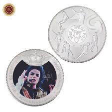 WR Michael Jackson Silbermünze farbige Foto gedruckt Sammler Musik Geschenk