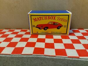 Matchbox Lesney   No32    E Type Jaguar EMPTY Repro Box Only   NO CAR