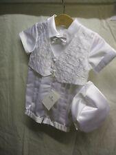 Antonio Villini Boys White Christening Outfit age 9-12 months BNWT's