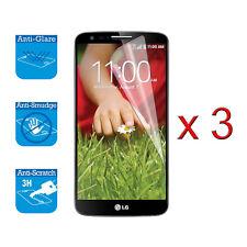 Per LG G2 Protettore Schermo Protezione LCD Film Lamina x 3