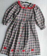 New  New Ding Dong long sleeve dress in red tartan   - 98 3/4 year 100% cotton