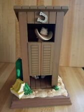 the san francisco music box company 1992 Cowboy Outhouse Happy Trails To You. 7�