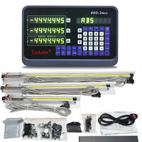 3pcs Linear Scale Glass Sensor+DRO 3Axis Digital Read Out Display CNC Mill Lathe