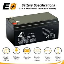 ExpertBattery RBC35 WP3-12 Replacement Battery 12V 3.3 Ah replaces 3.5AH for APC