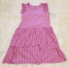 Cat & Jack Girl's Dress Striped Purple Pink Flutter Sleeve ▪Size XL (14/16)