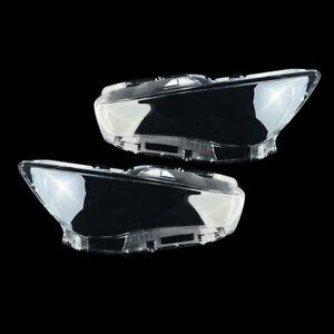 Pair Front Left Right Headlight Headlamp Lens Cover For Infiniti Q50 2014-2021