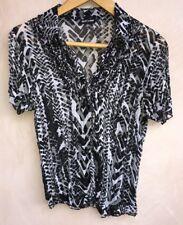 "Ladies Black/White Pattern Shirt Chest 32"" Gerry Weber<NH5792"