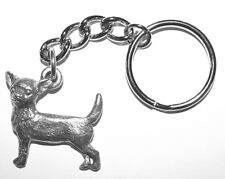 CHIHUAHUA Dog Fine Pewter Keychain Key Chain Ring Fob