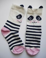 Girls / Kids Socks  Age 3-5 Years Pink Novelty Cotton Rich Animal Panda