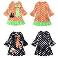 Toddlers Girls Halloween Party Dress Polka Dot Costumes Summer Casual Sundress