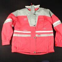 Henry Duvillard Womens M UK 12 Ski Snowboard Jacket Winter Snow Pink Silver Coat