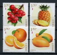 China 2018 MNH Fruits Mangos Oranges Pineapples 4v Set Nature Stamps