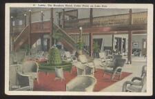 Postcard CEDAR POINT Ohio/OH  Breakers Hotel Wicker Furniture Lobby 1910's