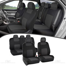 Charcoal Seat Covers for Car Double Stitched Split Bench Option (Fits: Mazda)