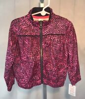 NWT Carters 3T Jacket Pink Black Animal Print Pockets Zip Front Toddler Girls