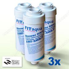 3x Duschfilter FitAqua AWF-SWR-P, Wasserfilter zum Wohle Ihrer Haut
