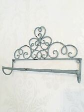 Shabby Chic Towel Rail French Vintage Industrial Metal Bathroom Kitchen Bedroom