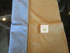 """Pottery Barn  Velvet Linen  Pillow Cover Riviera  blue  20"""" New"""