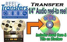 """REEL TRANSFERS - convert 1/4"""" Audio reel to reel to CD"""