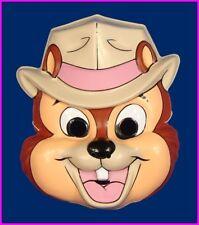 * Chip Chipmunk Walt Disney Halloween Costume Mask Ben Cooper 1990 Dale NEW *