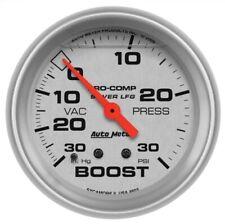 "Auto Meter 4603 2-5/8"" Ultra-Lite Boost/Vacuum Gauge Liquid Filled NEW"