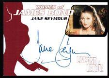 Women of James Bond Jane Seymour autograph solitaire live and let die auto