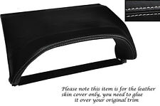 WHITE STITCHING SPEEDO HOOD SKIN COVER FITS NISSAN X-TRAIL 01-04 PRE FACELIFT