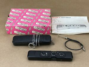 Minox C Black Spy Subminiature camera w/ Case, Box & Chain