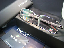 TAG Heuer TH 8005 005 Eyeglasses Frame Silver / Black Red New Authentic