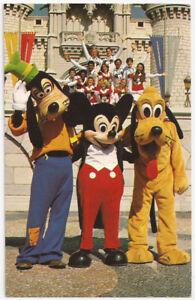 Disney World Florida Goofy Mickey and Pluto Vintage Postcard