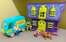 Scooby Doo Haunted Mansion/House Mystery Machine & 4 Action Figures