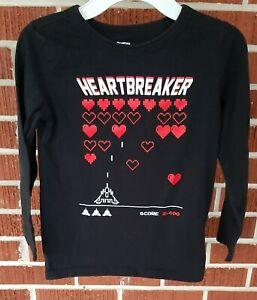 OshKosh long sleeve boys Valentine's Day Heartbreaker shirt size 7(EUC)