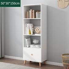 150CM Bookcase Tall Wooden Shelves Bookshelf Storage Shelving Unit Furniture UK