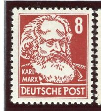 GERMANY;  EAST 1952-53 Politicians Portrait issue Mint hinged 8pf. value