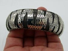 Estate JOHN HARDY Sterling Silver Macan Wide Hinged 102.4 Gram Cuff Bracelet