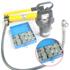 New listing 20T 2 Can Hydraulic Cable Wire Terminal Pliers Crimper W/ 12 Dies+pump Kit New