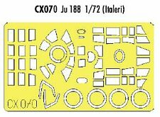 Eduard 1/72 Junkers Ju 188 canopy fame and wheels etc paint mask # CX070*