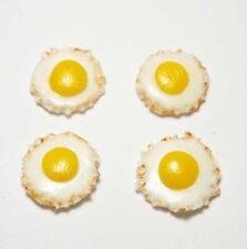 Set of 4 Dollhouse Miniature Fried Eggs * Doll Mini Food Egg Breakfast