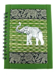 Hardcover Spiral Notebook Handmade Refill Journal Lined Elephant Travelers Diary