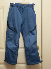 LANDS END INSULATED BLUE PANTS WINTER SNOW SKI SNOWBOARD BOYS 10 ~ NICE ~