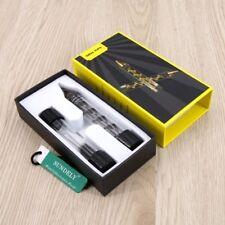 Design Smoking Mini Twisty Glass Blunt Metal Tip W/ Cleaning Brush NEW