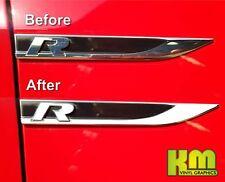 Golf R MK7 - Vinyl Abzeichen Farbe Überzug Aufkleber Sticker Set