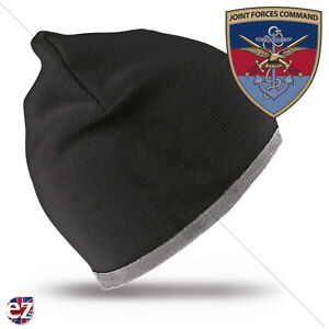 Joint Forces Command - Beanie Hat with Embroidered Badge
