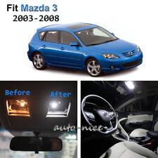 9x Xenon White LED Interior Lights Kit For 2003-2008 Mazda3