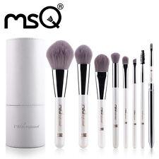 MSQ PRO 8PCs Makeup Brushes Set Zodiac Chinese SHEEP Synthetic PU Cylinder White