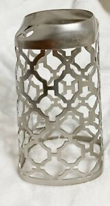Bath and Body Works, Silver Plated Geometric Foam Soap Metal Sleeve, Old Style