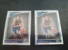 Michael Porter Jr Rated Rookie Shock Prizm and Base card